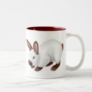 Taza linda del conejo del mascota