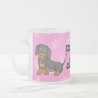 Taza linda del Dachshund del perro del dibujo