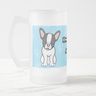 Taza linda del dogo francés del dibujo animado