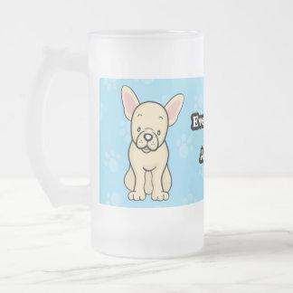 Taza linda del dogo francés del perro del dibujo