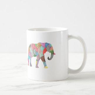 Taza linda del elefante