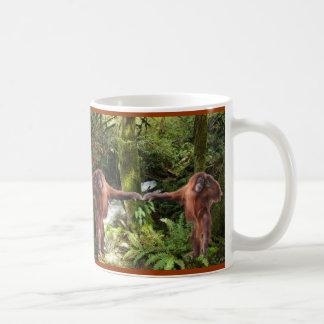 Taza linda del Fauna-partidario del orangután del
