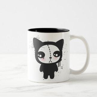 Taza linda del gatito del grunge
