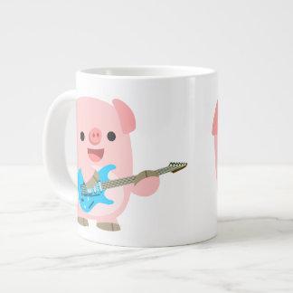 Taza linda del jumbo del cerdo del dibujo animado  taza grande