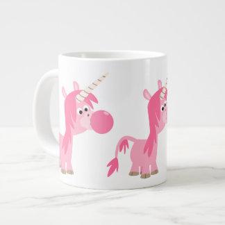 Taza linda del jumbo del unicornio del chicle del taza grande