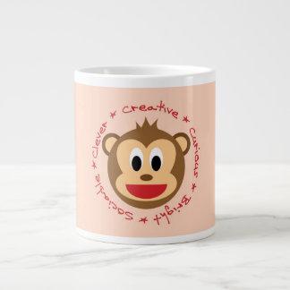 Taza linda del mono tazas jumbo