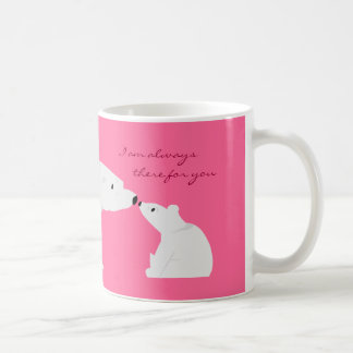 Taza linda del oso polar: Siempre allí para usted