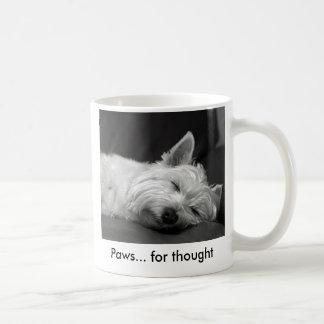 Taza linda del perro de Westie