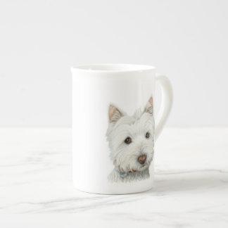 Taza linda del perro de Westie Taza De Porcelana