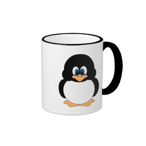 Taza linda del pingüino