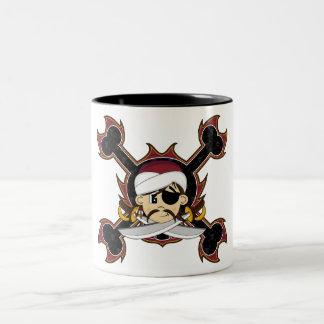 Taza linda del pirata del turbante