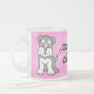 Taza linda del Schnauzer del perro del dibujo