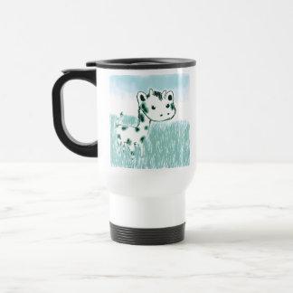 Taza linda del viaje de la aguamarina de la jirafa