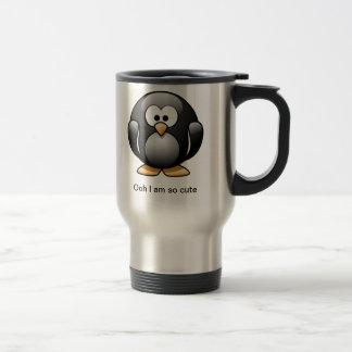 Taza linda del viaje del pingüino