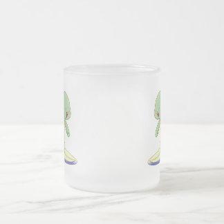 Taza linda del vidrio esmerilado de Kawaii de la
