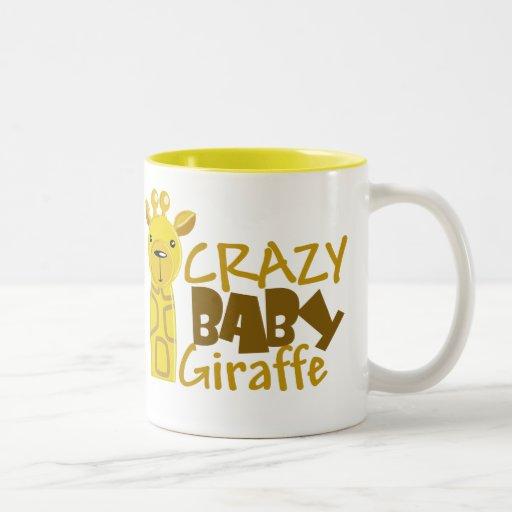 Taza loca de la jirafa del bebé