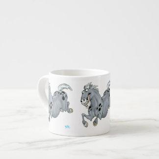 Taza loca del café express del caballo del dibujo taza espresso