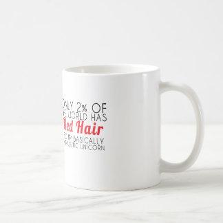 Taza majestuosa del texto del unicornio del pelo