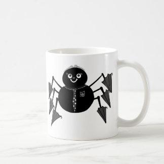 Taza manchada de tinta de la araña de Malinky