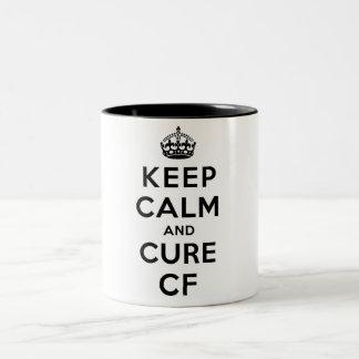TAZA: Mantenga los CF tranquilos y de la curación Taza De Dos Tonos