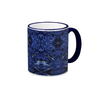 Taza Marino-Azul del diseño