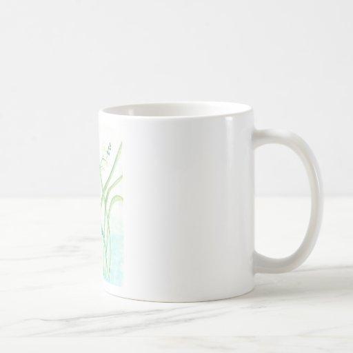 Taza, mariposa, acuarela taza básica blanca