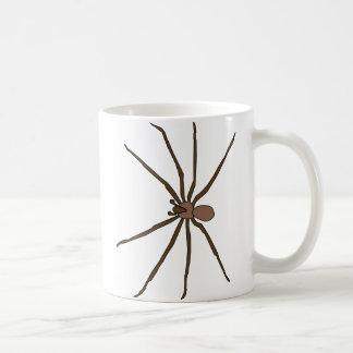 taza marrón de la araña del recluse