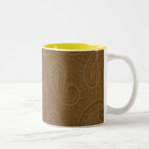 taza marrón de la impresión del uno mismo