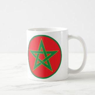 Taza marroquí de la bandera
