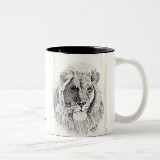 Taza masculina del león