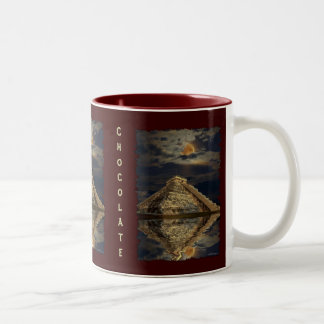 Taza maya del chocolate caliente del templo de Chi