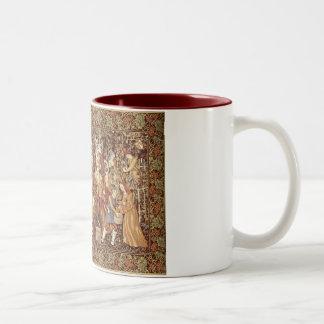 Taza medieval de la tapicería