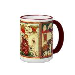 Taza medieval de las escenas
