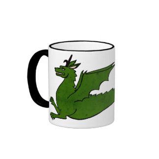 Taza medieval del dragón
