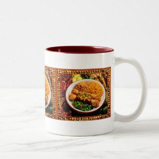 Taza mexicana de la cena