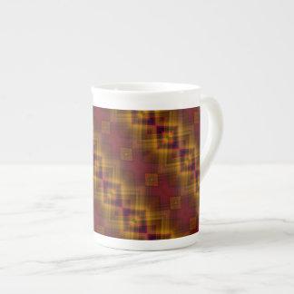 Taza modelada diamante de la porcelana de hueso de tazas de china