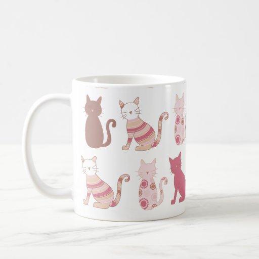 taza moderna del gato
