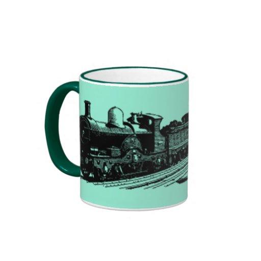 taza moderna del vintage 2 del tren