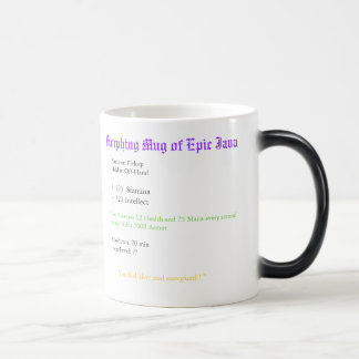 Taza Morphing de Java épica, lazos en PickupHeld…