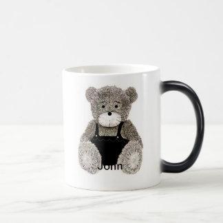 Taza Morphing del oso de peluche de Juan