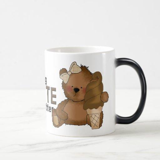 Taza Morphing del oso del chocolate