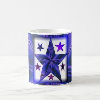taza morphing única de la Azul-estrella