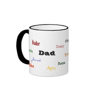 Taza multilingue del papá