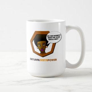 Taza natural del café del poder de Sista