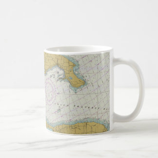 Taza náutica de la carta de Michigan de la bahía