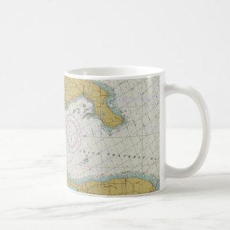 Taza náutica de la carta de Michigan de la bahía t