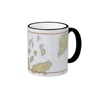 Taza náutica el lago Superior de la carta de las i