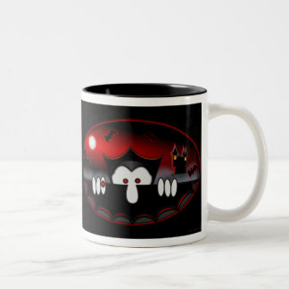 Taza negra de Kilroy- del vampiro