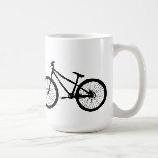 Taza negra de la bici de montaña del vintage