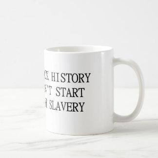 Taza negra de la historia